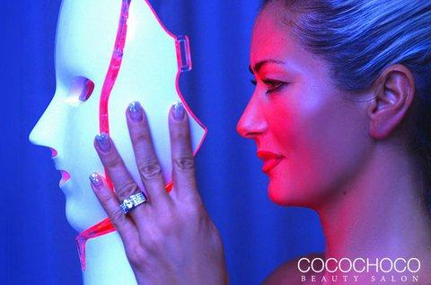 LED maszkos ránctalanító kezelés hidroabrázióval