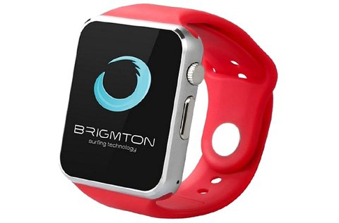 Brigmton Bwatch-BT4R okosóra piros szilikon szíjjal
