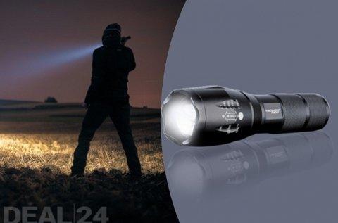 Víz- és ütésálló zseblámpa 3 világítási móddal