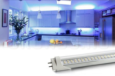 120 cm-es, 16 W-os, duplasoros LED fénycső