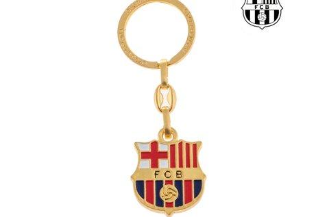 F.C. Barcelona aranyszínű kulcstartó