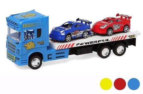 Autószállító kamion 2 autóval