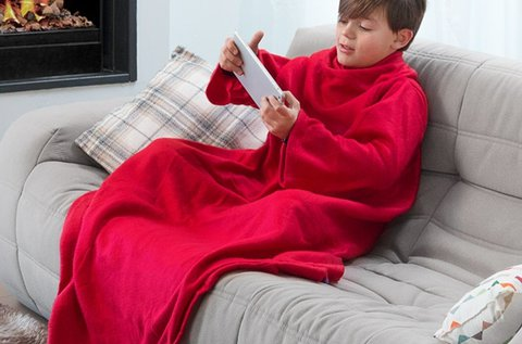 Extra Soft Snug Snug piros gyerek takaró ujjakkal