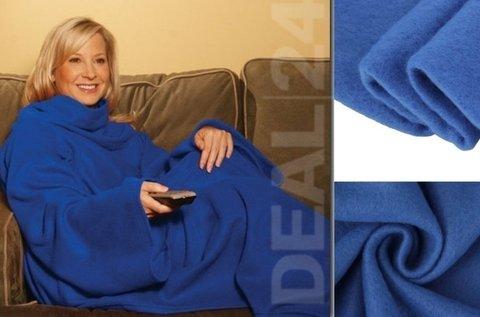Ujjas takaró a hideg téli estékre, kék színben