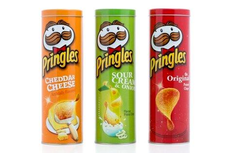 Narancssárga, piros vagy zöld Pringles fémdoboz