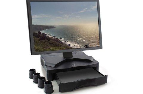 Monitor magasító fiókos kiegészítővel
