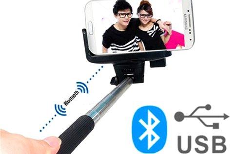 Bluetooth-os monopod selfie bot állítható hosszal
