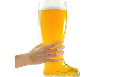2 l-es csizma alakú söröskorsó