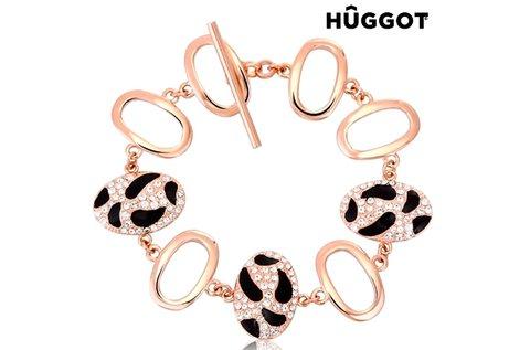 Tiger Huggot 18 karátos rozé aranyozott karkötő