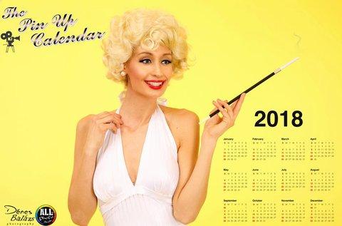 Profi fotózás 2018-as Pin-up calendar készítéssel