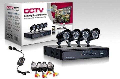 Komplett 4 kamerás megfigyelő rendszer