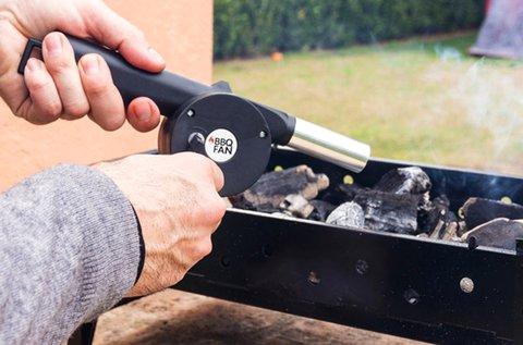 Kézi barbecue ventilátor műanyag kampóval