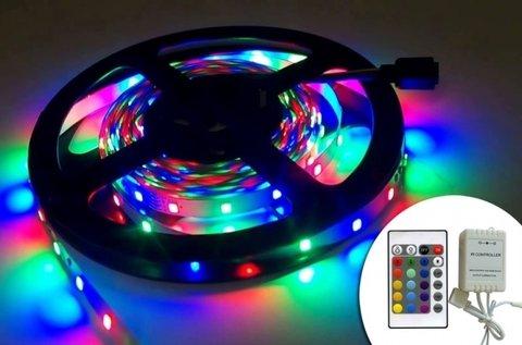 5 m-es színes LED szalag távirányítóval