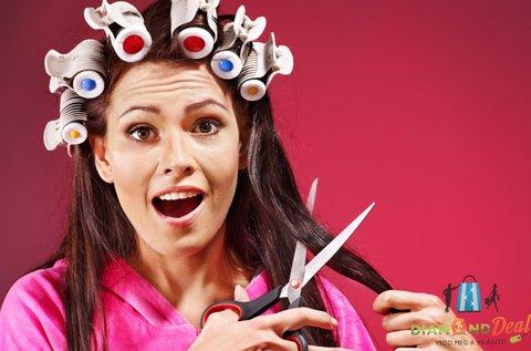Női hajvágás mosással és szárítással