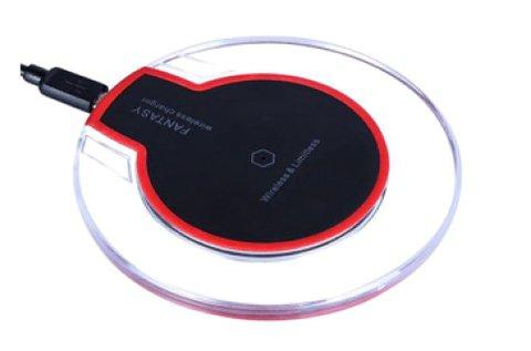 Vezeték nélküli QI telefontöltő fekete színben