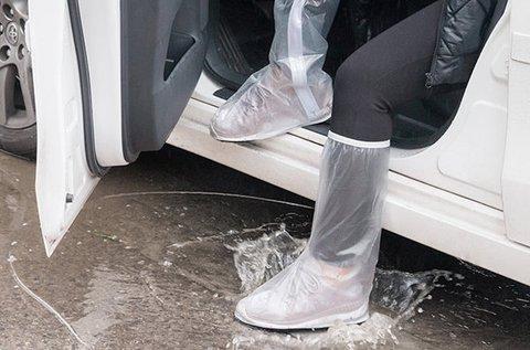 1 pár cipőre húzható vízálló fóliacsizma
