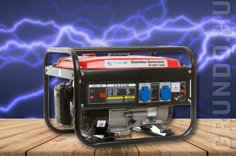 Straus benzinmotoros áramfejlesztő generátor