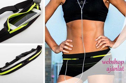 Elasztikus, testhez illeszkedő sportöv futáshoz