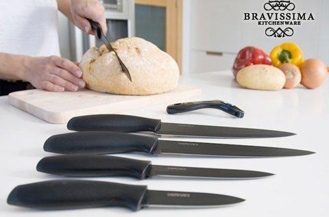 Bravissima Kitchen kerámia bevonatos késkészlet