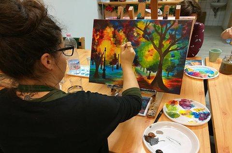 3 órás élményfestészet eszközök biztosításával