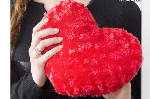 Loom In Bloom poliészter szív párna