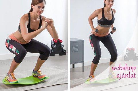 Fitness egyensúlyozó deszka képes edzéstervvel
