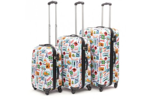 3 db-os Fashion bőröndszett
