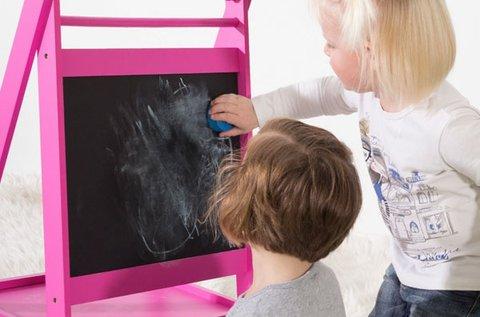 Gyerek kétoldalas tábla színes krétákkal, 2 színben