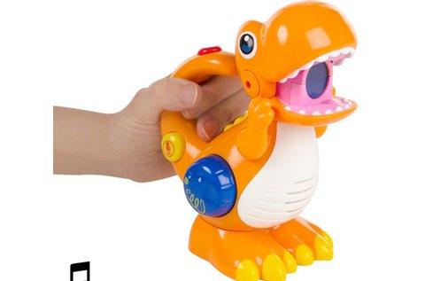 Hangrögzítő és lejátszó dinoszaurusz LED-del