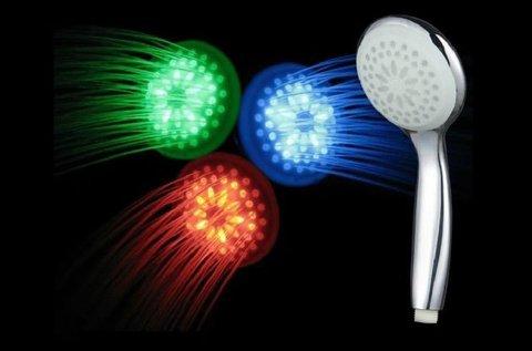LED-es, színváltoztatós zuhanyfej