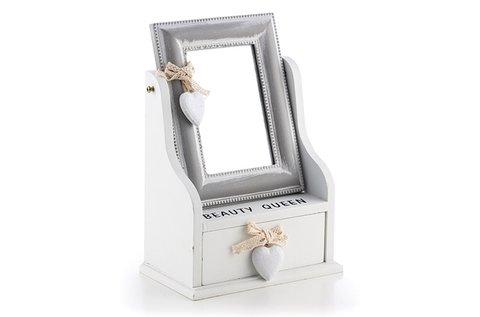 Homania Queen tükrös és fiókos ékszertartó doboz