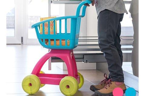 10 db-os rózsaszín játék bevásárlókocsi