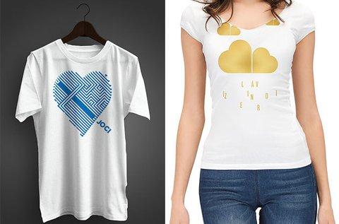 Valentin napi pólók egyedi, romantikus grafikával
