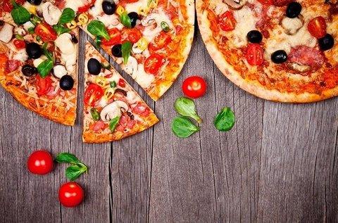 2 db étlapról választható, 32 cm-es pizza