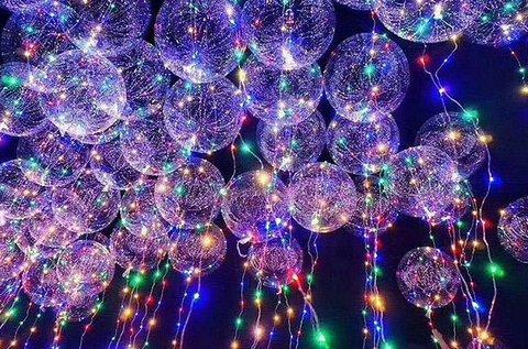 Tartós világító LED lufi parti kellék