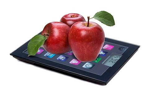 iPad digitális konyhamérleg LCD kijelzővel