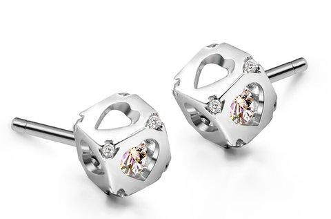Dice Huggot 925 sterling ezüst fülbevaló