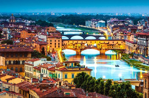 Páros romantika Firenze városában