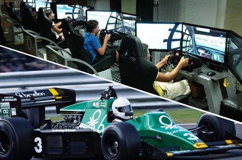 1 órás autóverseny szimulátorozás