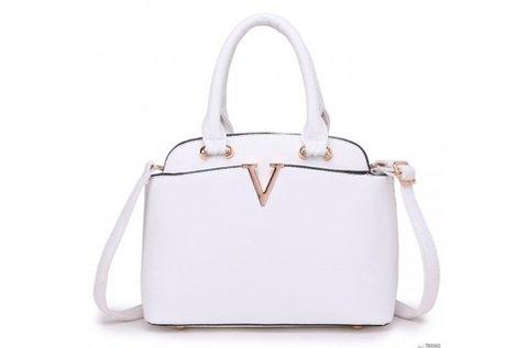 Miss Lulu London női fehér kézi táska