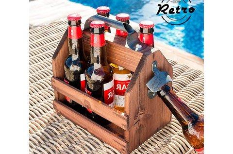 Retro fa palacktartó palacknyitóval