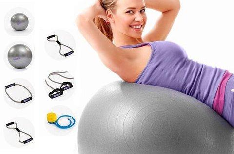 BTK otthoni edzőszett 55 cm-es fitness labdával