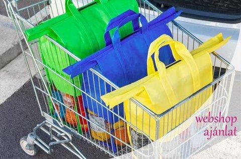 4 db színes bevásárlótáska merevítővel
