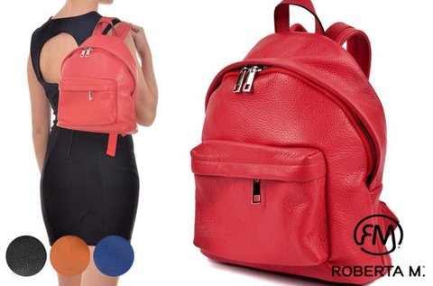 Roberta M Basic bőr hátitáska 4 színben