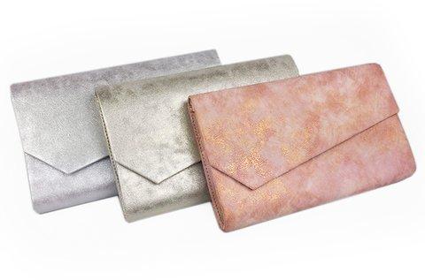 Elegáns borítéktáska metál színekben