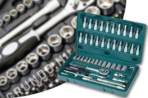 46 részes Tidal racsnis dugókulcs készlet kofferban