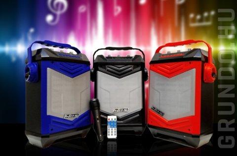 Akkumulátoros bluetooth karaoke hangfal