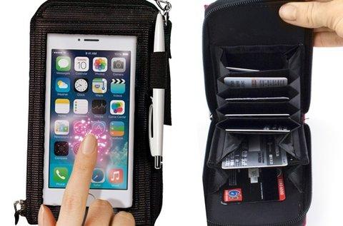 All in 1 Purse Touch telefontartós pénztárca