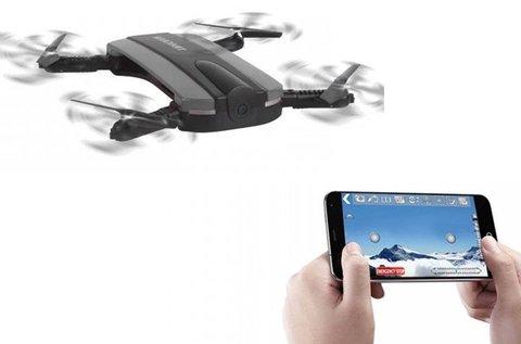 Mobiltelefonról irányítható mini drón kamerával