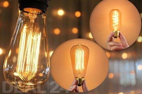 40 W-os Edison izzó választható kivitelben